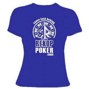 Camiseta Leave Luck Behind CHICA Color azul Talla XL