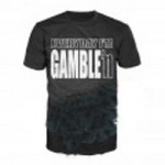 Camiseta Everyday I'm Gamble'n negra