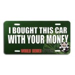 "Placa para coche WSOP ""I bought this car..."""