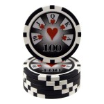 25 fichas Royal Flush valor 100