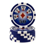25 fichas Royal Flush valor 50
