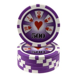 25 fichas Royal Flush -valor-500