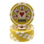 25 fichas Royal Flush -valor-1000-