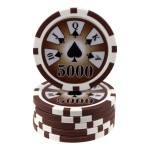 25 fichas Royal Flush -valor-5000-