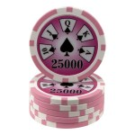 25 fichas Royal Flush -valor-25000-