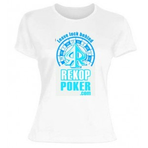Camiseta Leave Luck Behind CHICA blanco