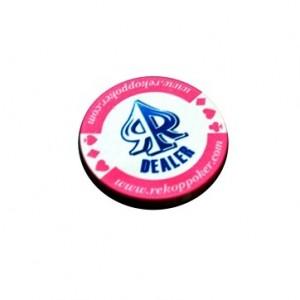 Dealer cerámica rosa 5 cm