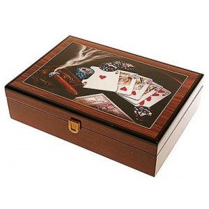 Caja madera para 200 fichas